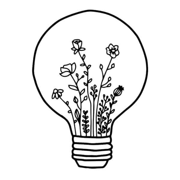 Glühbirnenblumen